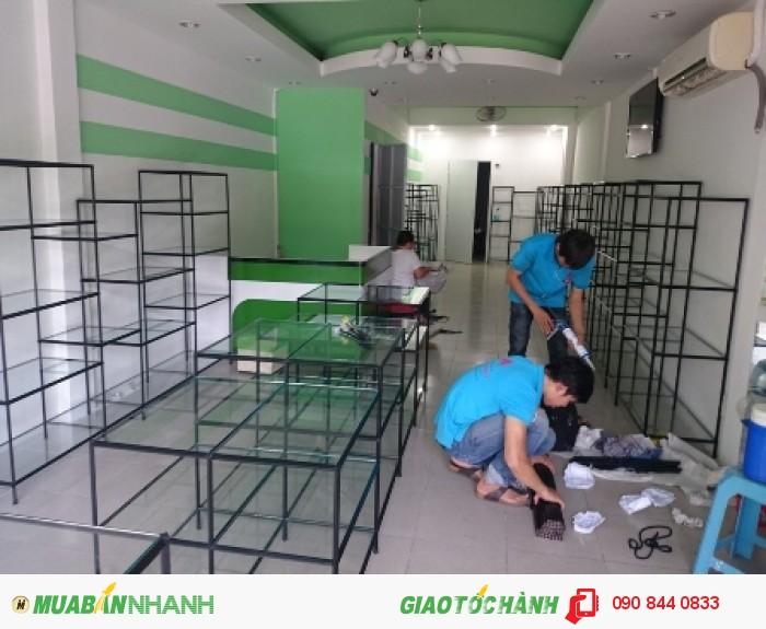 Kệ trưng bày sản phẩm, không hàn cố định, không gắn ốc vít, kệ lắp ráp Việt Cường Phát11
