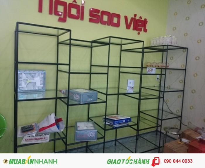 Kệ trưng bày sản phẩm, không hàn cố định, không gắn ốc vít, kệ lắp ráp Việt Cường Phát13