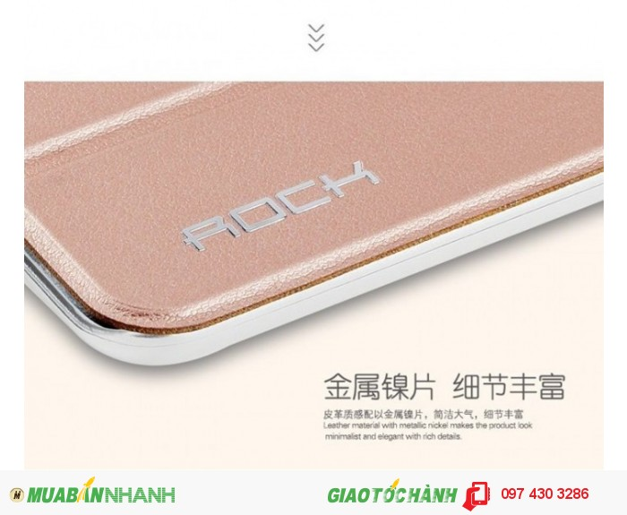 Bao da ipad Mini 4 Rock Phantom khung cao su chống sốc.