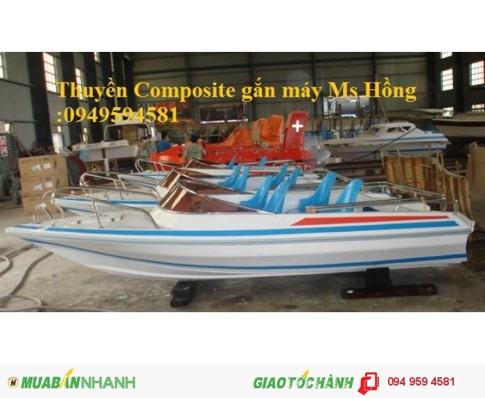 Thuyền Composite chèo tay 6-8 người