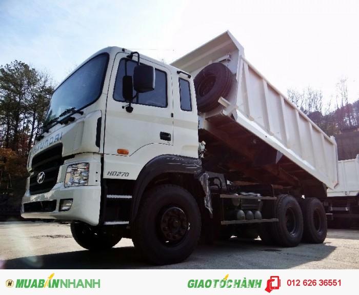 Gía xe ben Hyundai HD270. Bán xe tải tự đổ Hyundai HD270 (6x4) thùng 15m3