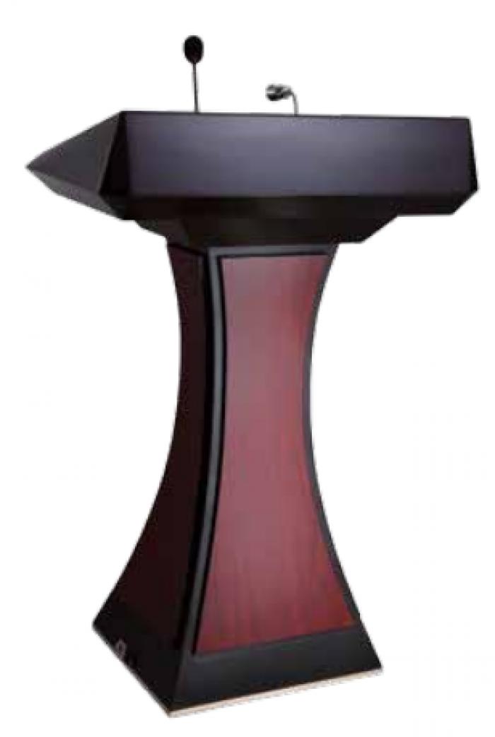 Bục phát biểu Mã sản phẩm: H7P4T3L1 - HOSPITALITY Kích thước: L800 x W500 x H1180 mm Chất liệu: gỗ, có đèn - có míc Xuất xứ: Hàng nhập khẩu