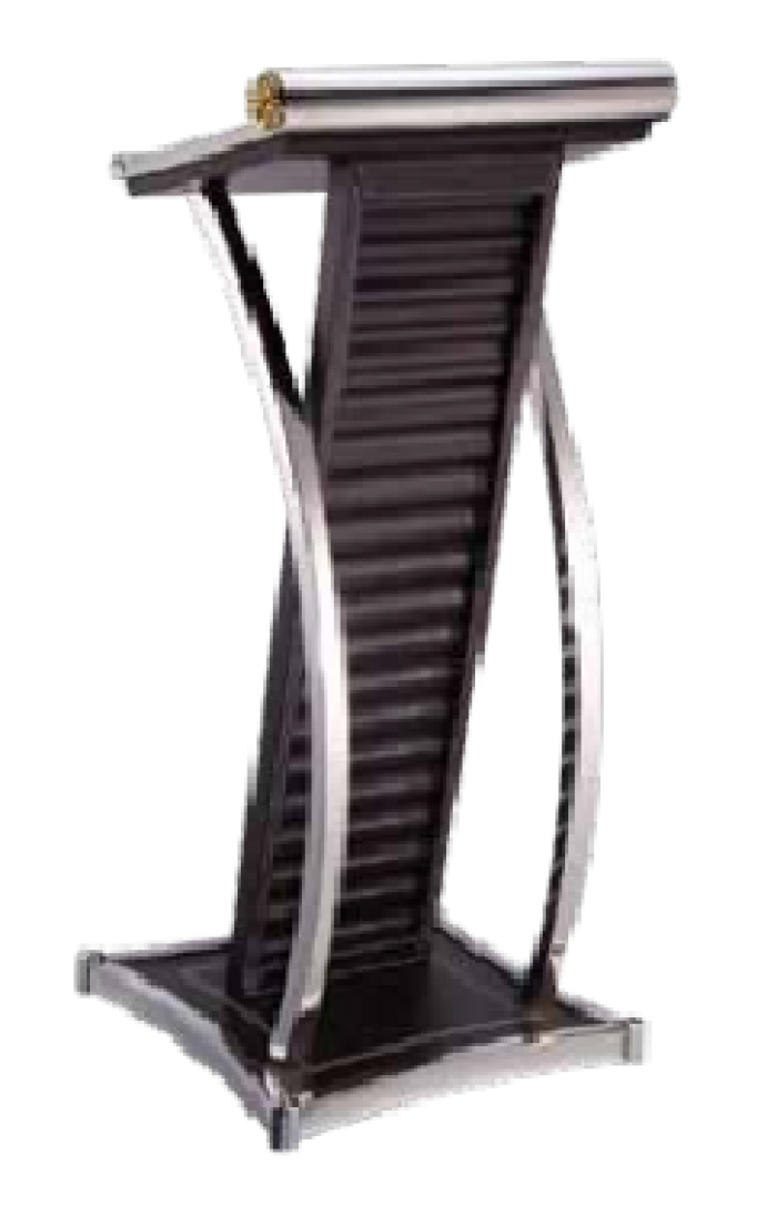 Buc phat bieu Mã sản phẩm: H7P6T9L2 - HOSPITALITY Kích thước: L490 x W490 x H1165 mm Chất liệu: gỗ bọc simili, inox Xuất xứ: Hàng nhập khẩu