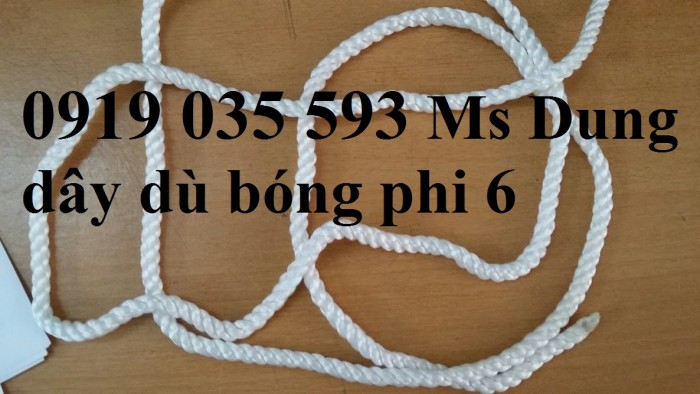 Dây thừng phi 10, chất PP màu trắng, 2