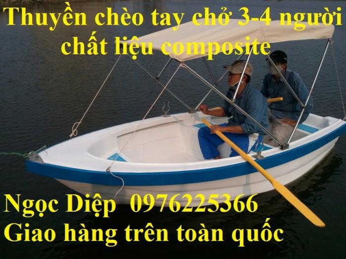 Thuyền chèo tay composite chở 3-4 người