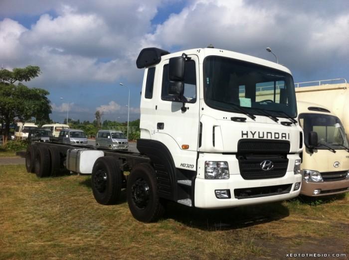 Xe tải Hyundai HD320 tải trọng 19 Tấn, Thùng dài 9m6