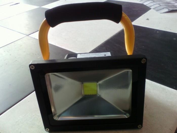 Đèn pha led sạc 20W cho tầng hầm, du lịch, picnic, công trình, 5