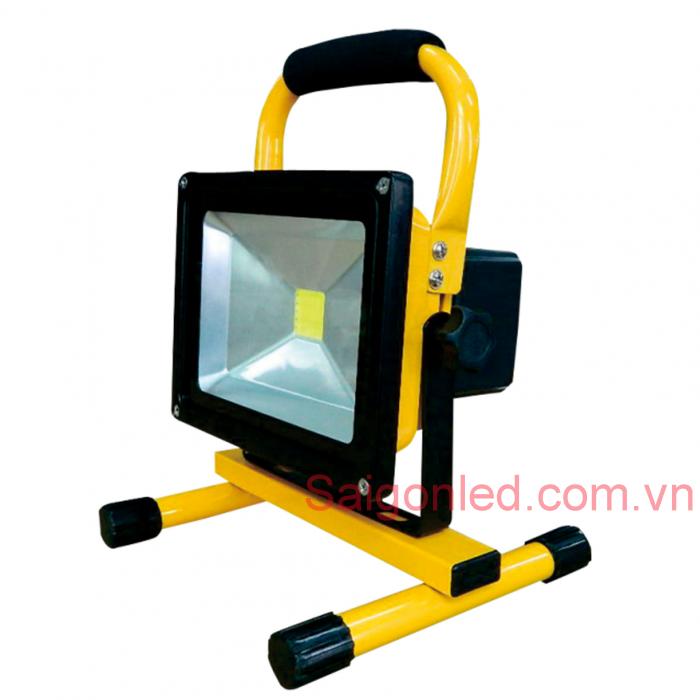 Đèn pha led sạc 20W cho tầng hầm, du lịch, picnic, công trình, 8
