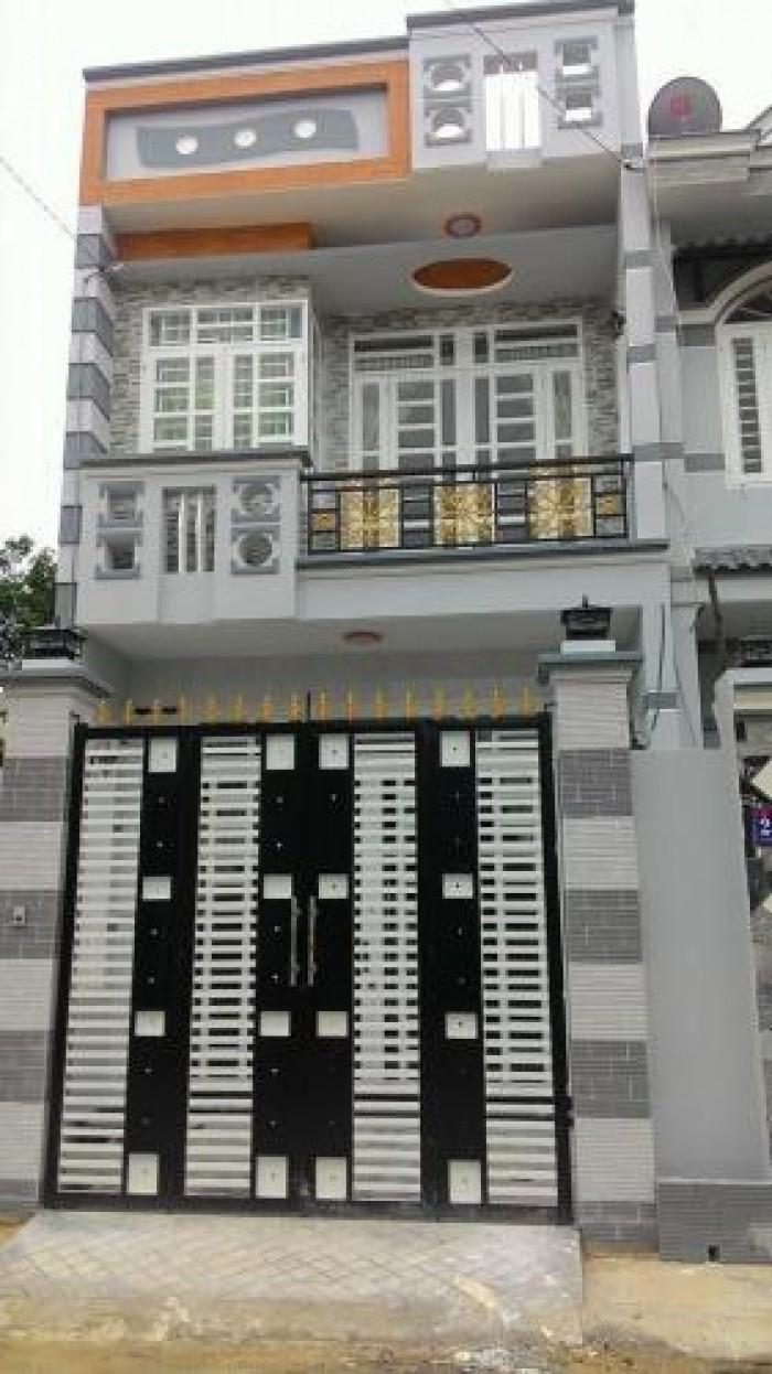 Nhà mới xây dt 4X18 1tret/1 lầu 2pn/2wc đường thạnh lộc