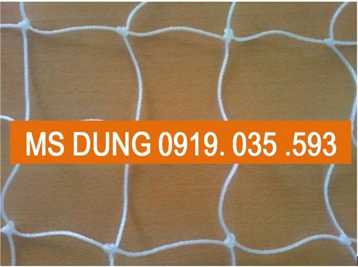 Lưới an toàn PE, polyester 2.5cmx2.5cm, dù trắng  thi công nhà thép