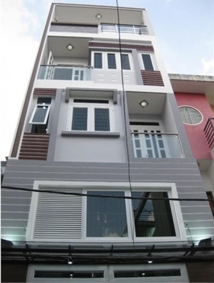 Nhà đẹp hẻm xe hơi 371/12A Hai Bà Trưng gần chợ Tân Định, cho thuê nguyên căn dài hạn