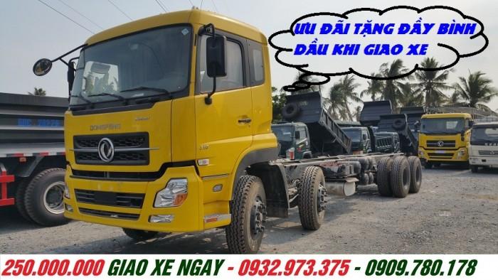 Giá bán xe tải 4 chân 17T9 dongfeng đời 2016 giá rẻ hỗ trợ mua bán trả góp xe tải dongfeng 4 giò