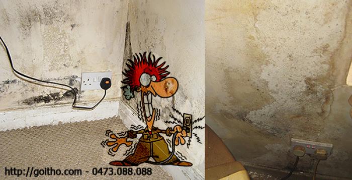 Sửa chữa điện bị hỏng đi trong tường nhà