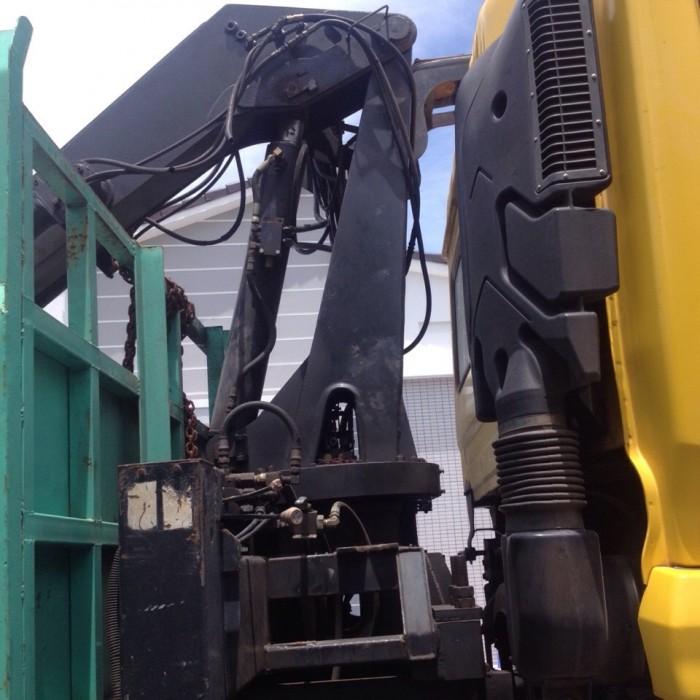 Bán xe tải dongfeng 3 chân gắn cẩu gấp 5 tấn đời 2012