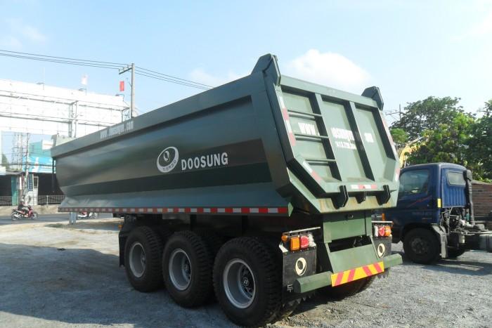 Thông tin bán Sơ mi rơ moóc tải Doosung 28,8 tấn thùng 24 m3, giao xe toàn Quốc