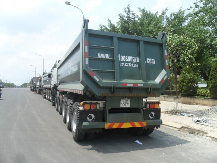 Bán Rơ mooc tải Ben Doosung tải trọng 24 khối 29 tấn, có sẵn