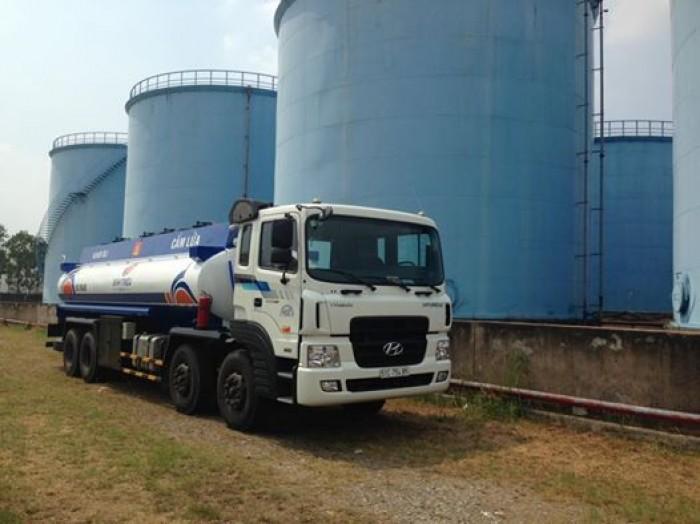 Xe bồn chở xăng dầu 21 khối HYUNDAI nhập khẩu