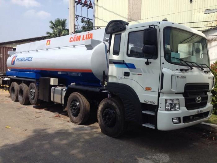 Xe bồn chở xăng dầu 21 khối HYUNDAI nhập khẩu, 4