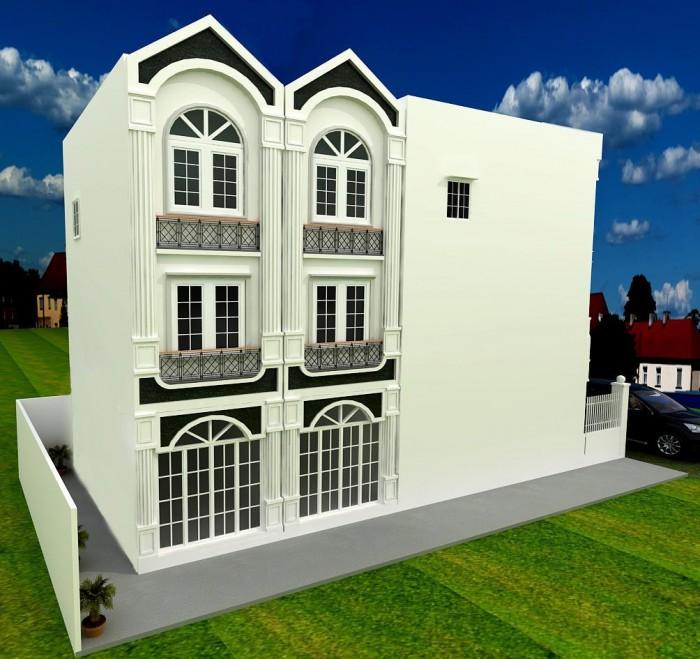 Bán hoặc cho thuê nhà nguyên căn, DT: 4x11m. 1 trệt 2 lầu đúc liền kề Phú Mỹ Hưng