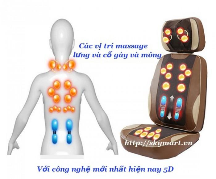 Đệm massage hồng ngoại 5d nhật bản NBF F08 model mới nhất