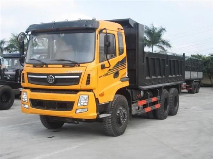 Xe tải ben 13,3 tấn Trường Giang 3 chân