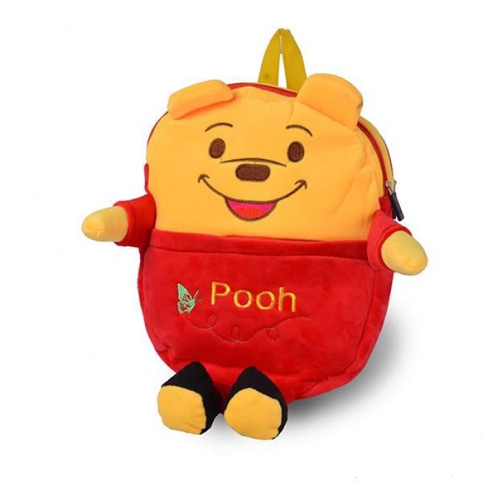 Balo trẻ em hình gấu Pooh dễ thương được may gia công với chất liệu vải tốtv