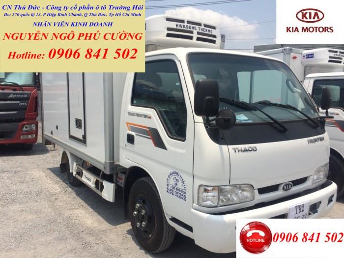 Bán xe đông lạnh KIA 2 tấn, xe tải KIA đông lạnh tải trọng 2 tấn chạy trong thành phố(tải trọng cao nhất) 2