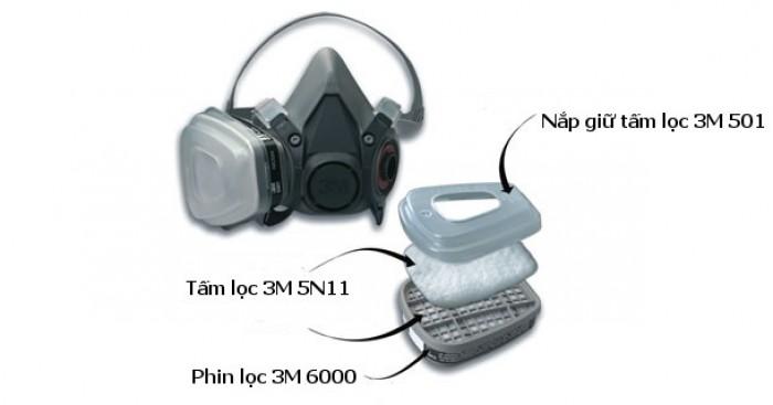 Bán mặt nạ phòng độc mỹ 3M, mặt nạ hở mặt, kín mặt, 7501,7502,6800, bán phin lọc 3M mỹ 6001,6006 hàng chính hãng, 3