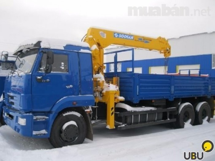 Bán Xe Tải Kamaz 65117 gắn cẩu (6x4) Sản xuất 2016 Kamaz Nga