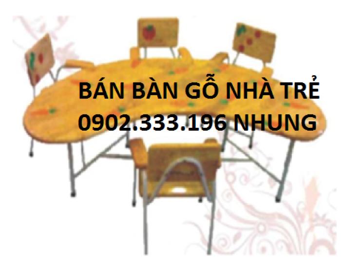 Bàn ghế gỗ mầm non, bàn ghế cho trẻ em, bàn ghế cho em bé ngồi học, bàn ghế học sinh10