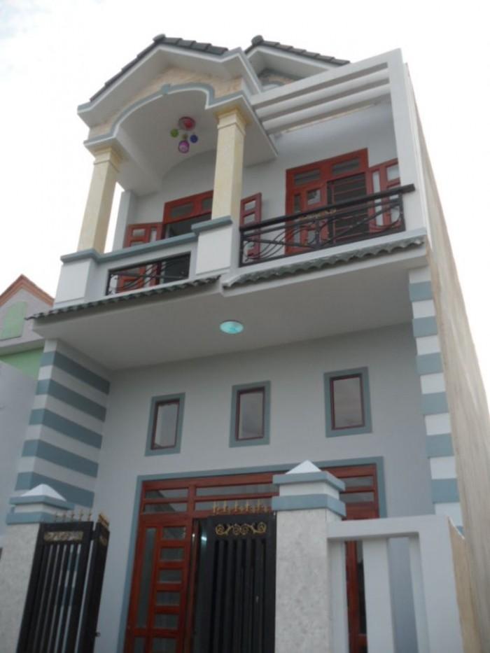 Nhà 1 trệt 1 lửng  mới xây,sổ hồng riêng,98m2, 370tr, ngay chợ Bình chánh
