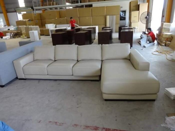 sofa góc bọc vãi bố chất nguyên liệu hàn quố