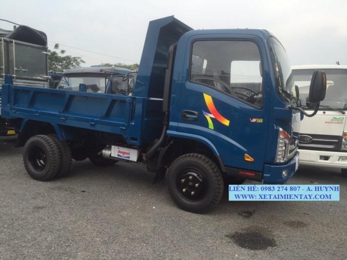 Bán xe tải veam ben 2T VB200, veam ben VB200, Veam VB200 động cơ Hyundai nhập khẩu giá tốt, 3