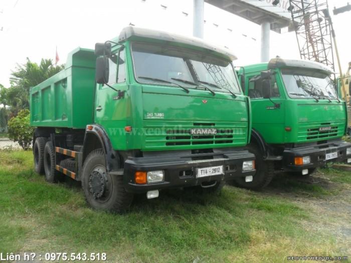 Xe tải Ben Kamaz 65115 -15 tấn trả góp lãi suất thấp, giao xe ngay