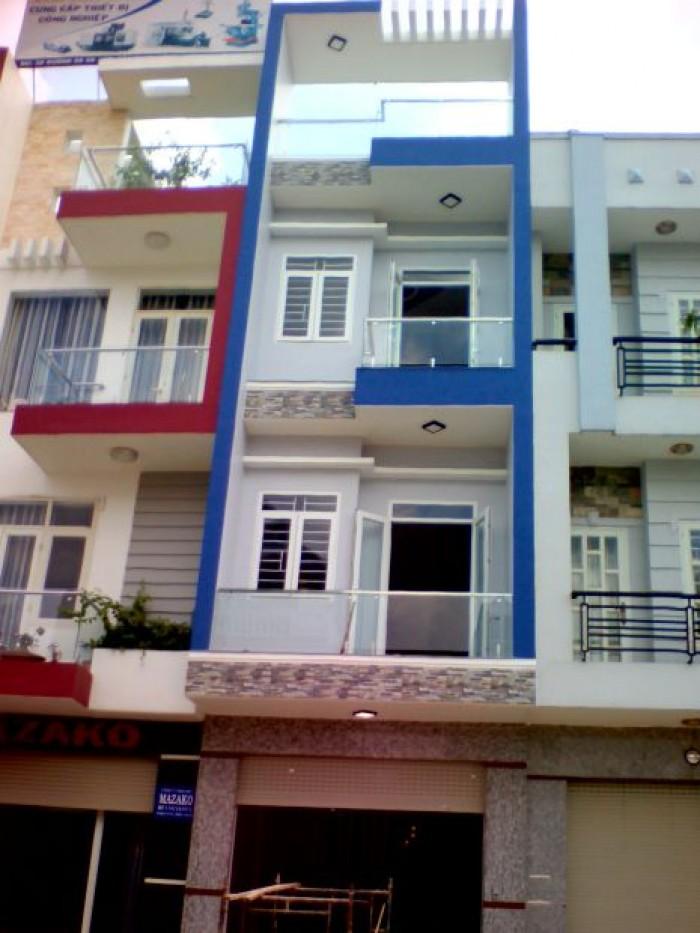 Bán nhà HBG, Trịnh Đình Trọng, Q11, Dt 4 x 14, 1 trệt 3 lầu. Sổ hồng. Giá 3.2 tỷ.
