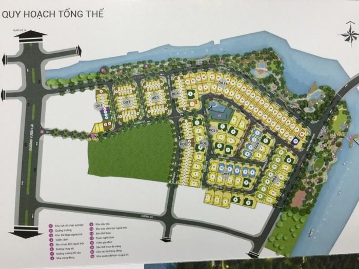 Biệt Thự Phú Mỹ Hưng 2 ngay tại quận 12 với 2 mặt giáp sông.