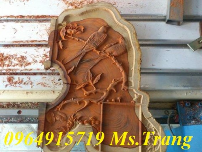 Máy đục tranh gỗ, máy đục chương ghế cnc