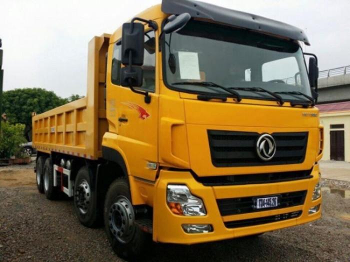 Xe tải ben dongfeng 4 chân 8x4 tải trọng 16,5 tấn nhập khẩu