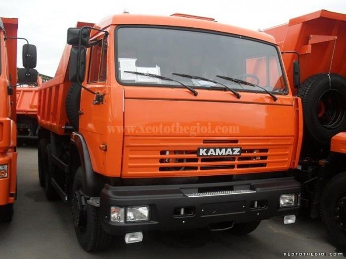 Kamaz 13 tấn tải tự đổ 55111, thể tích thùng ben 6.6 m3 (13 tấn), giá tốt