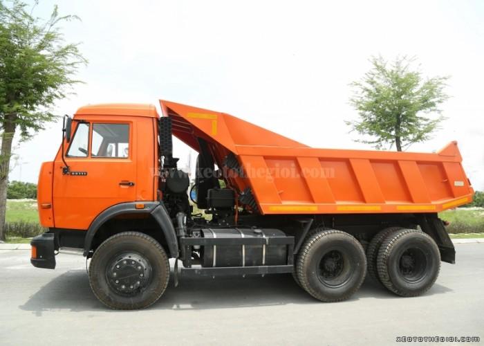 Đại lý phân phối xe 55111 6x4 ben Kamaz 11m3 tải tự đổ