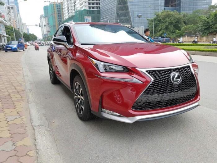 Giao ngay xe mới nhập khẩu Mỹ Lexus NX200T - Fsport màu đỏ, bảo hành 36 tháng.