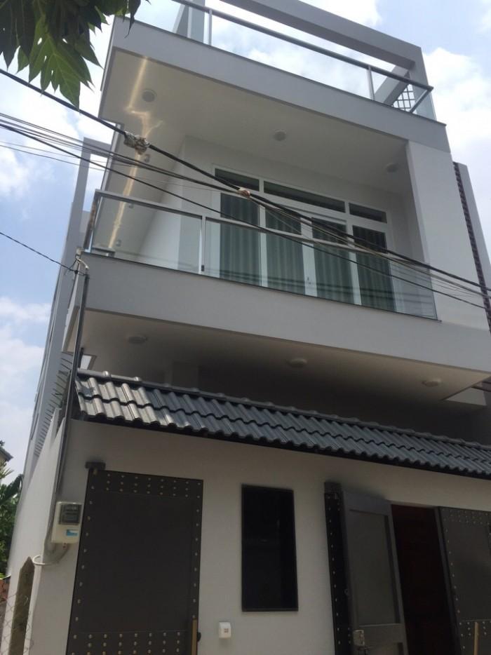 Bán nhà xây 2 lầu đường Bưng Ông Thoàn,Phú Hữu ,Q9