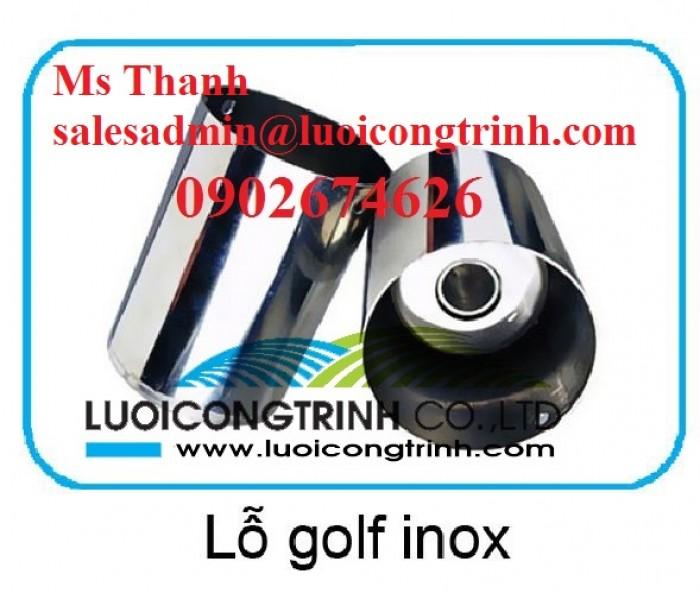 Lỗ golf, cột cờ cho sân tập golf