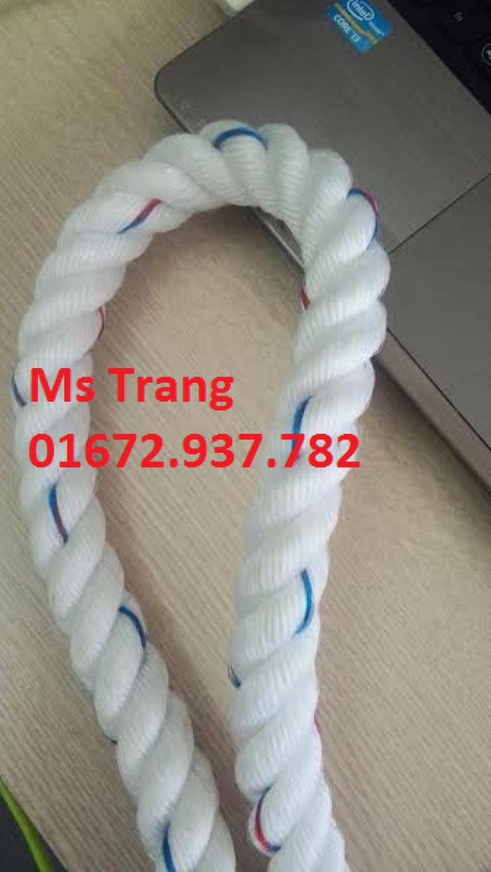 Dây thừng phi 16 vằn xanh, đỏ, chất PP, 5