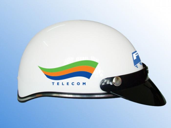 Quà tặng nhân viên văn phòng mũ bảo hiểm in logo