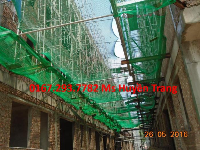 Lưới an toàn công trình nhà thép, nhà máy nhiệt điện, lưới an toàn xây dựng, dù trắng