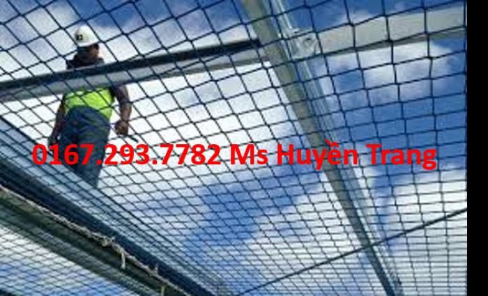 Lưới an toàn công trình nhà thép, nhà máy nhiệt điện, lưới an toàn xây dựng, dù trắng, 4