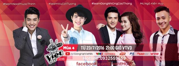Vé Giọng Hát Việt Nhí The Voice Kid 2016 ngày 1/10 Liveshow 3