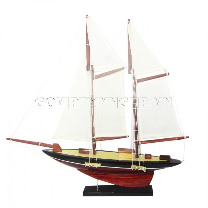 Mô Hình Du Thuyền 2 Cột Buồm 30cm (Trắng)0