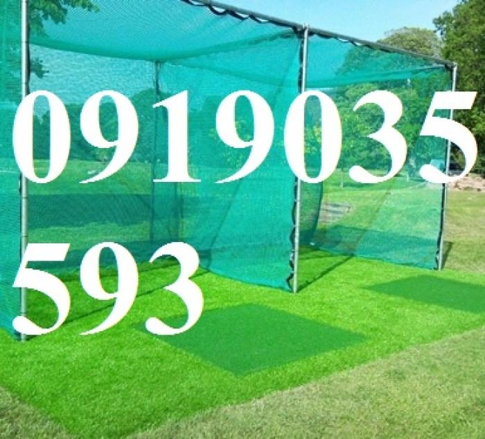 Lưới golf mắt 2.5cm bằng nhựa PE, màu xanh ngọc xanh nhạt dùng chắn bóng,che sân